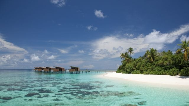 water villas on the beach