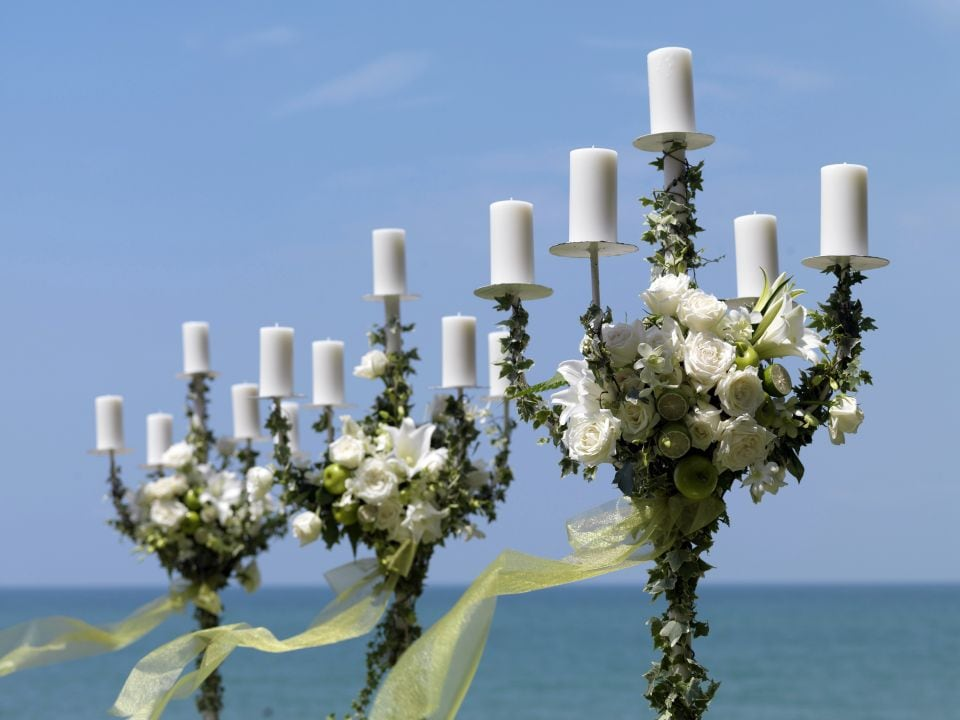 floral candleholders