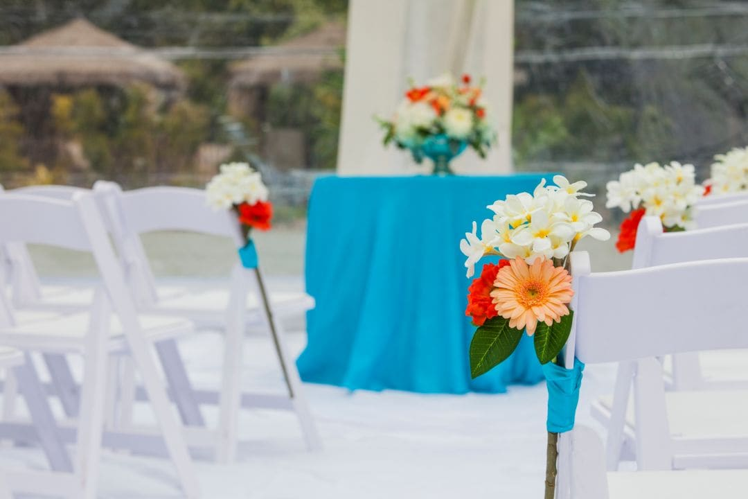 Wedding Ceremony Blue Table