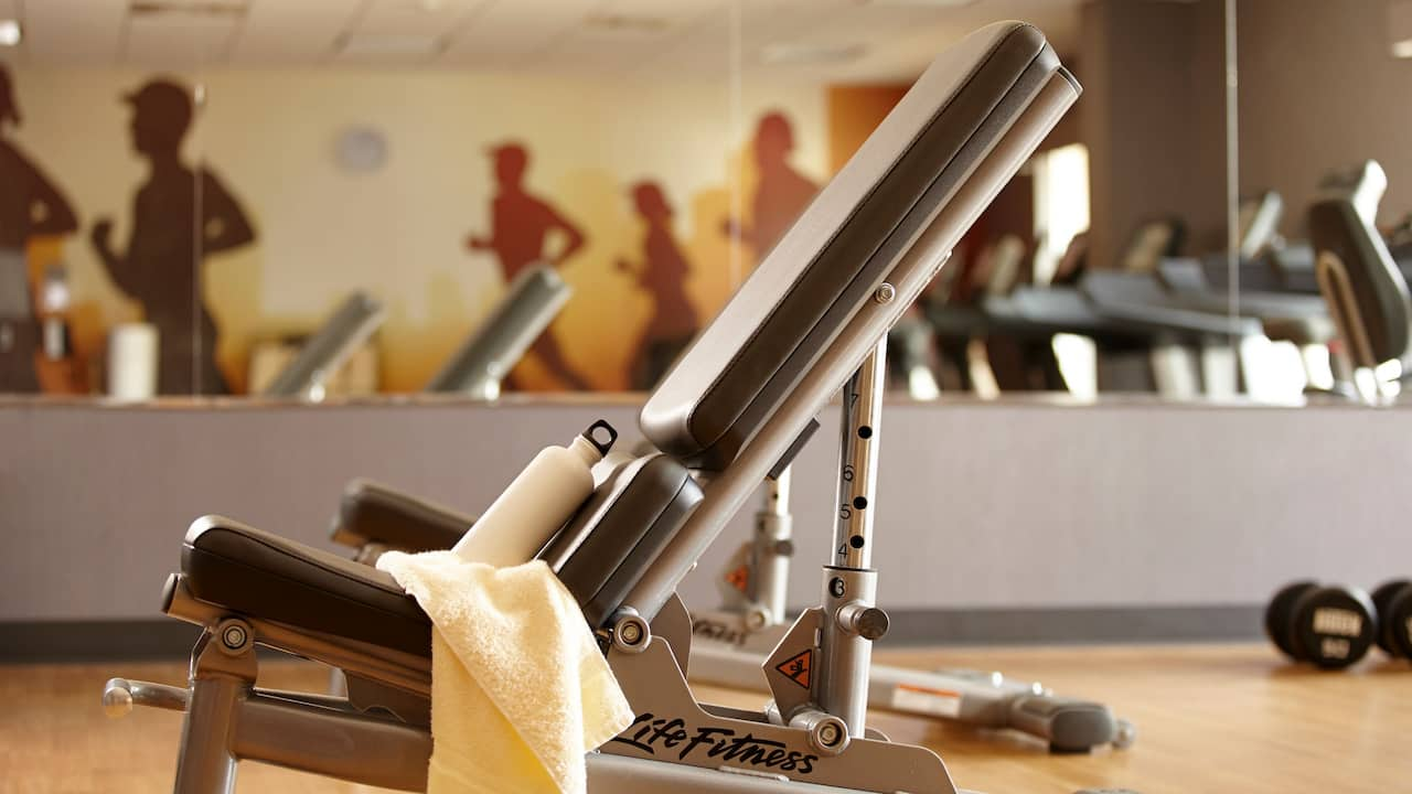 Hyatt House fitness room