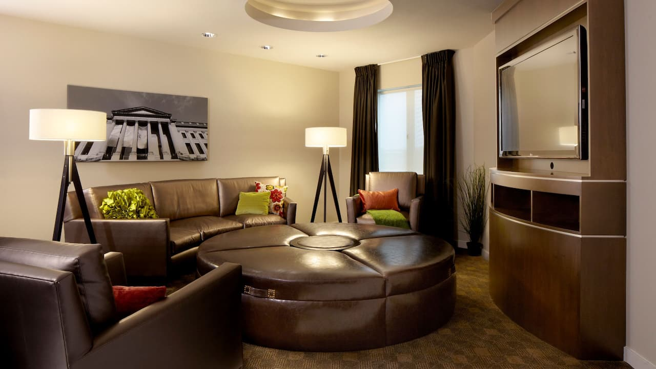 Modern Grand Master Suite Living Area – Hyatt House Hotel Philadelphia/King of Prussia