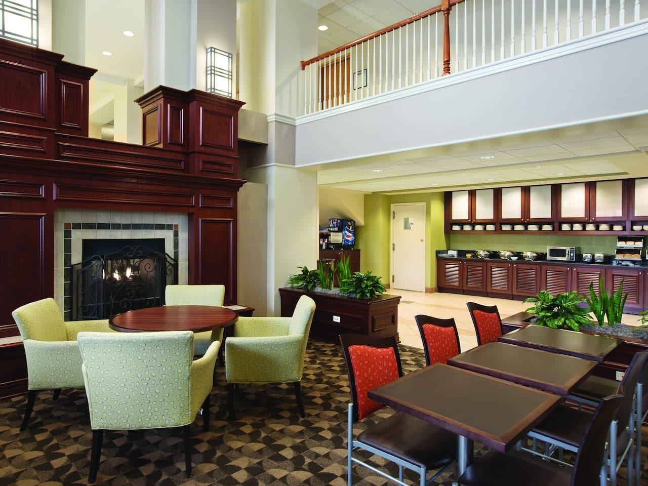 lobby firepit