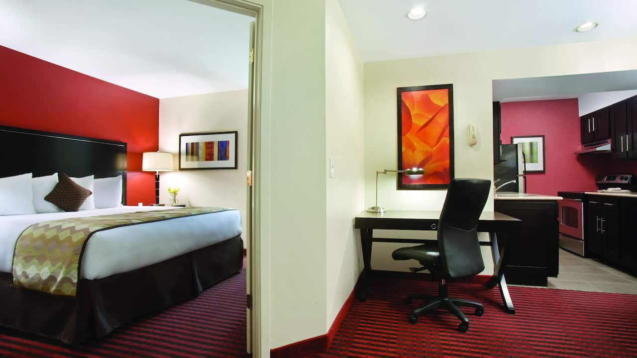 Hyatt House Studio Suite with Laptop