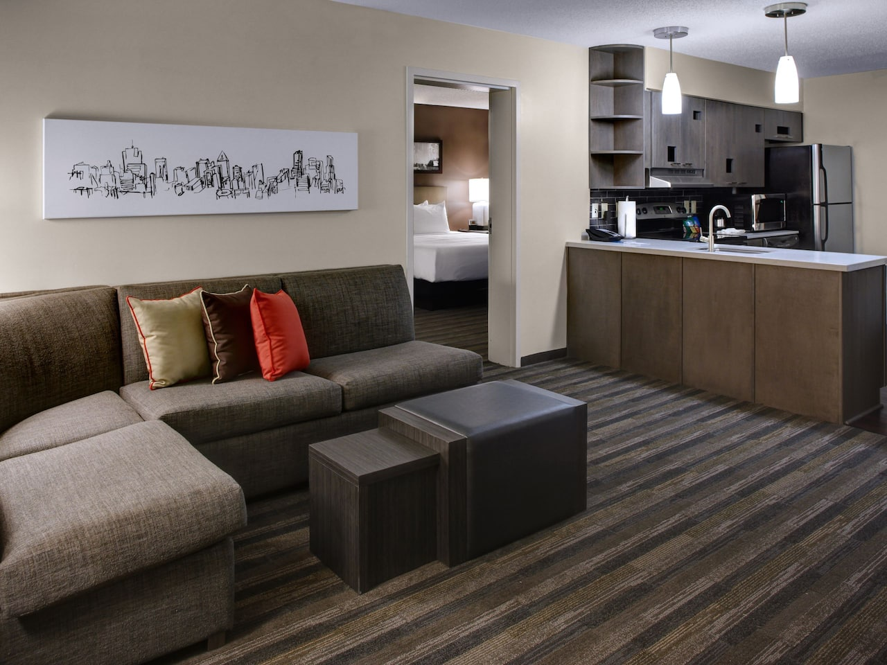 Two Bedroom Living Room Hyatt House Atlanta/Cobb Galleria