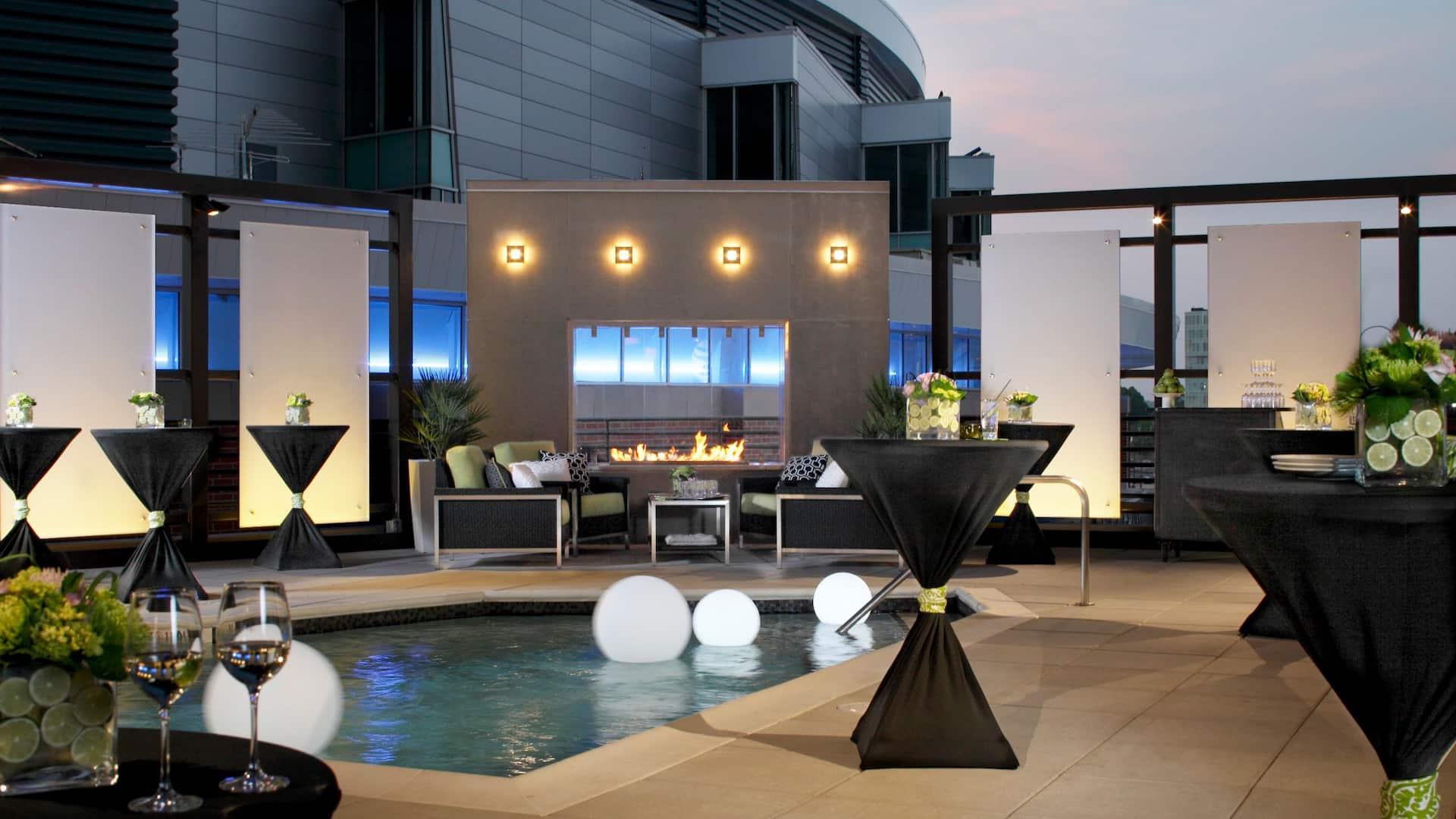 Hyatt House Exterior Rooftop Terrace Pool