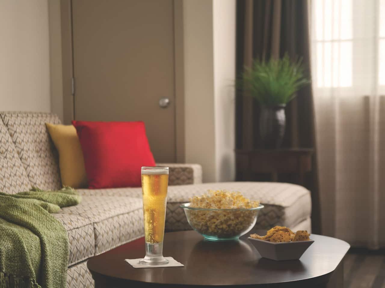 Hyatt House Minot Suite Livingroom