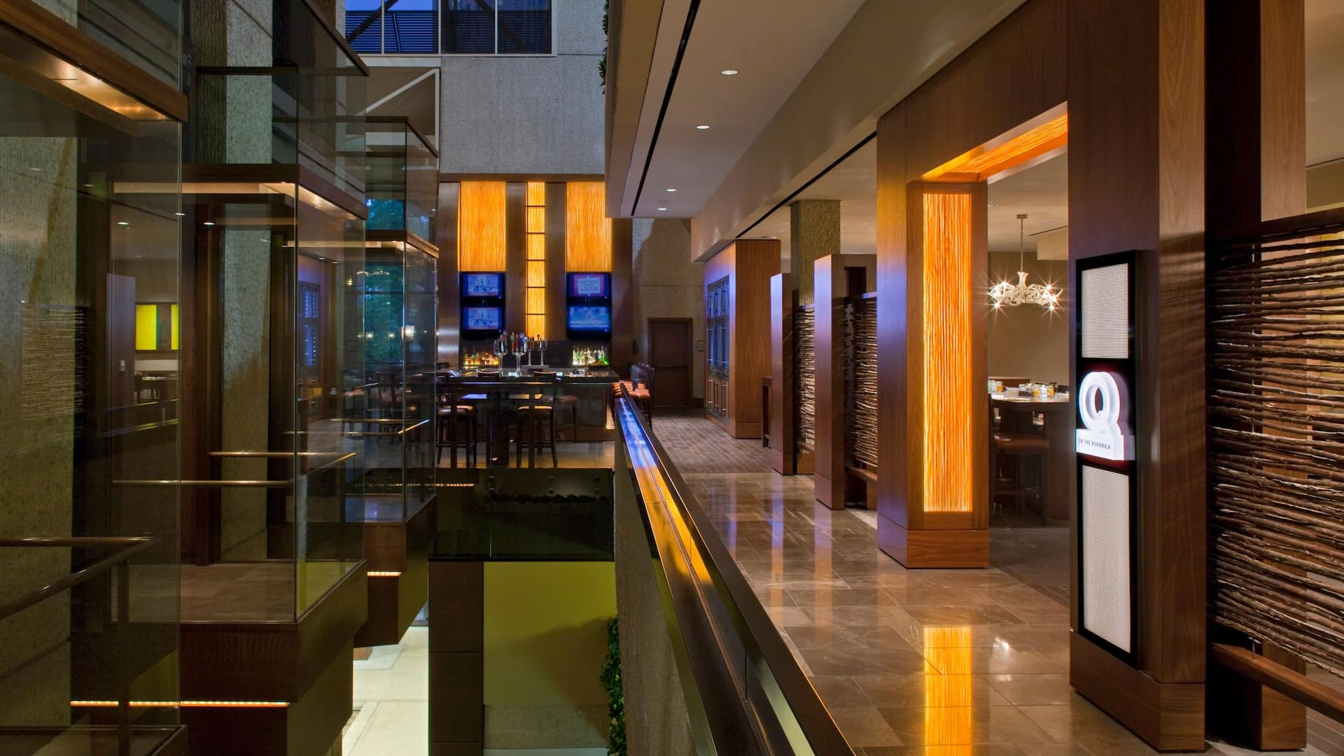 Dining Q Kitchen Entrance Hyatt Regency San Antonio near The Alamo