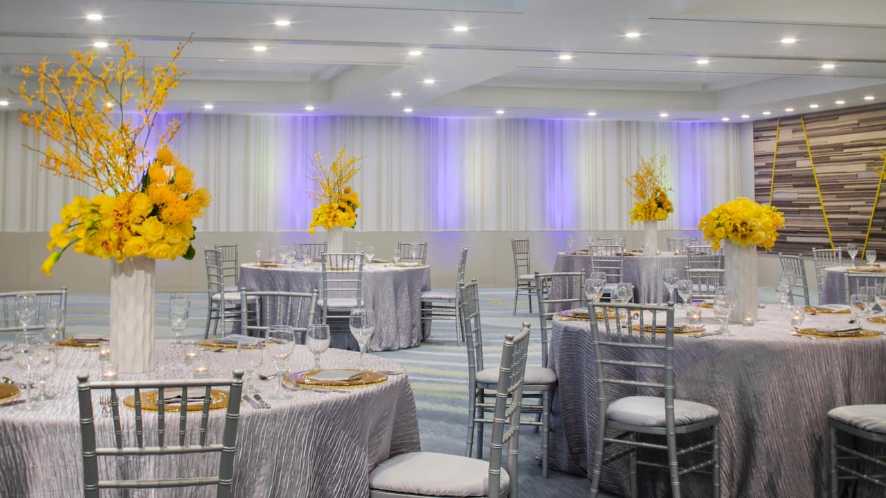 Seaview Ballroom with banquet-style seating