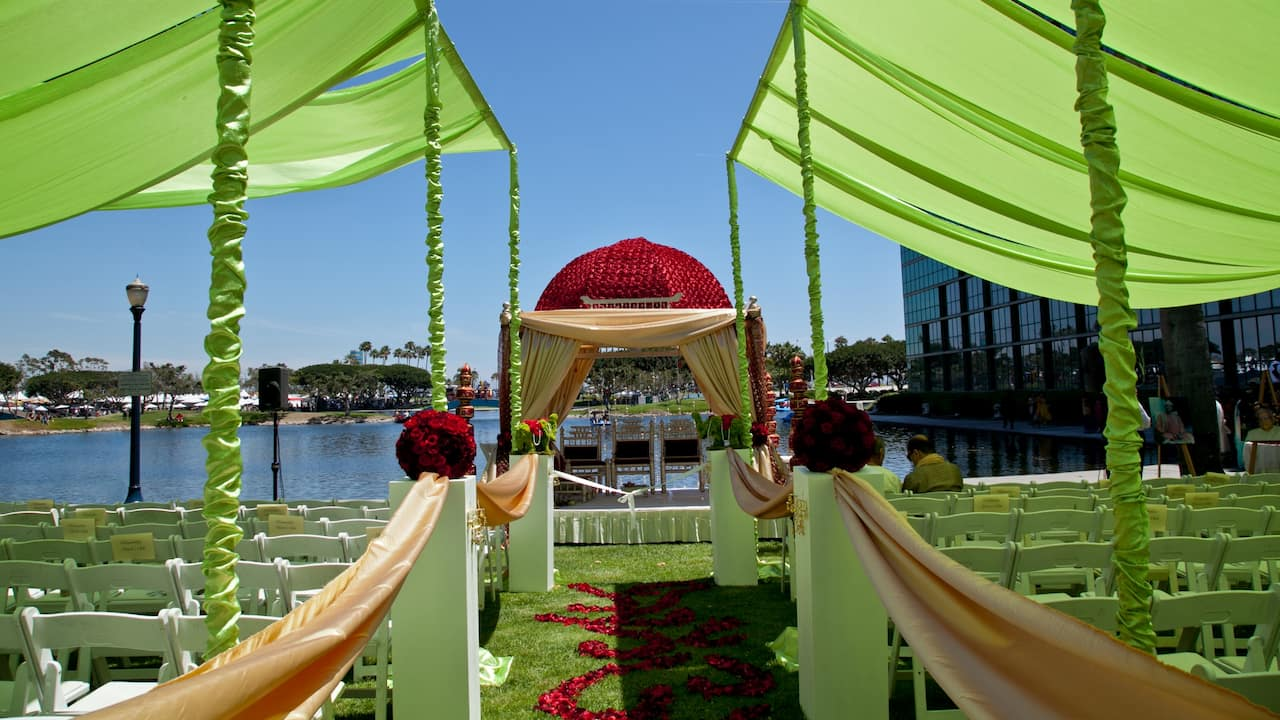 Rainbow lagoon wedding venue Hyatt Regency Long Beach