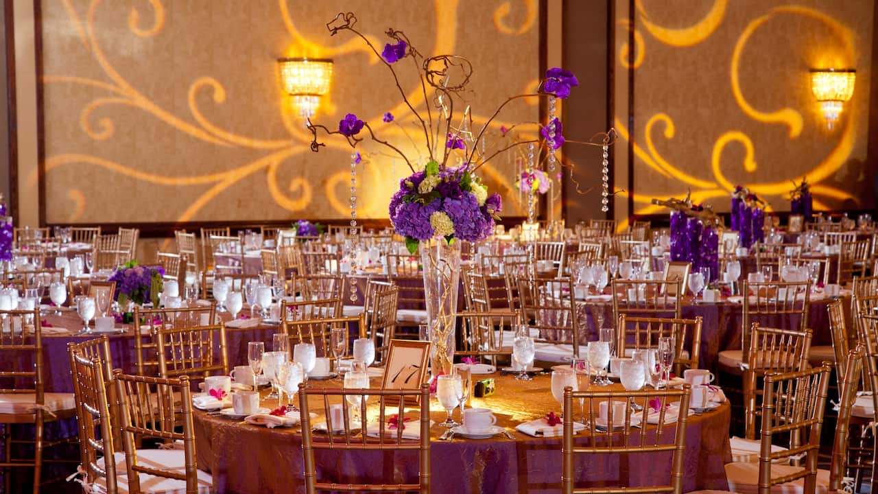 Wedding set-up inside the ballroom
