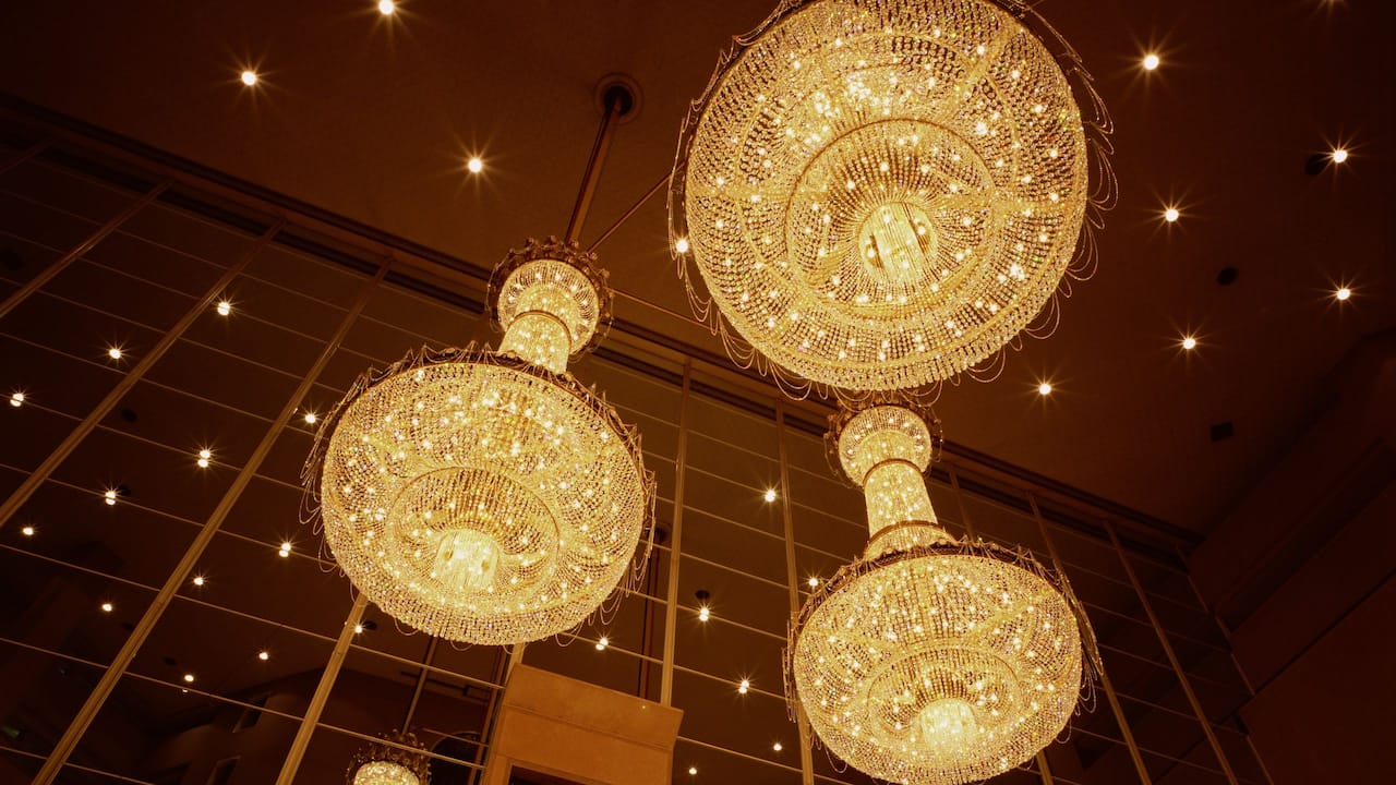 Lobby Chandeliers