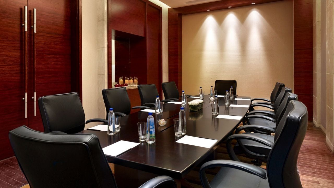 Boardroom with leather chairs