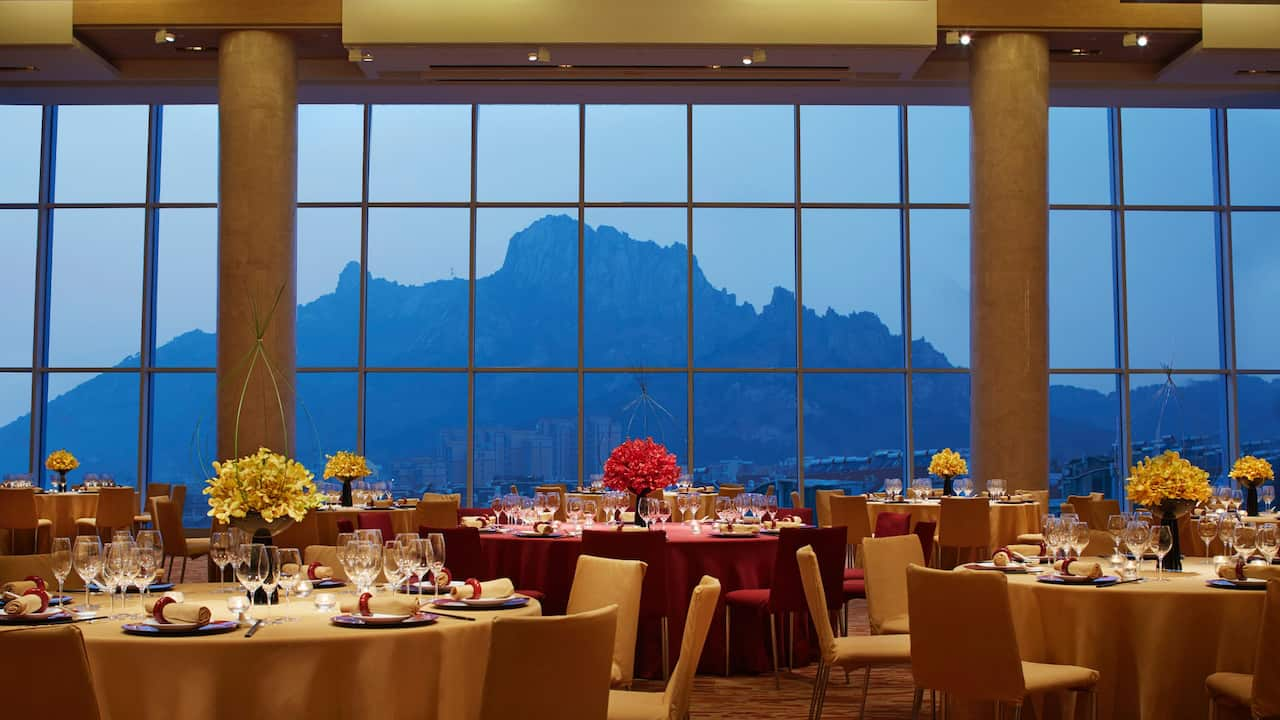 Ballroom Banquet with View