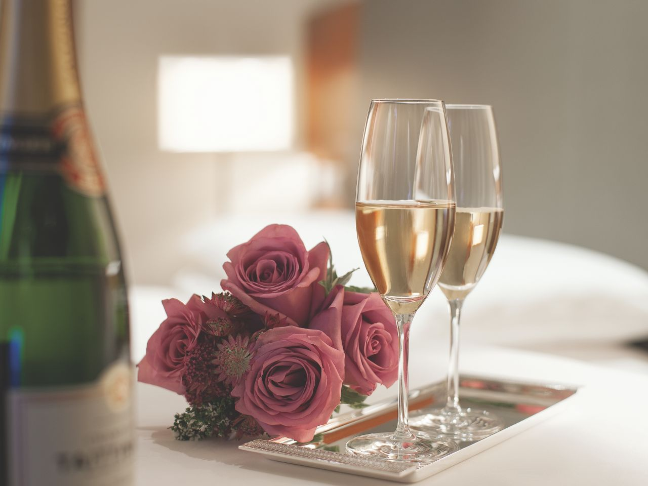 Bouquet and Champagne
