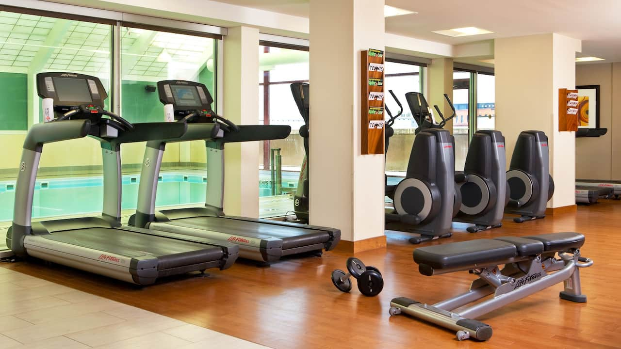 Hyatt Regency Rochester indoor fitness center