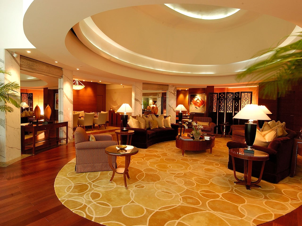 Living area of Presidential Suite at Hyatt Regency Kolkata