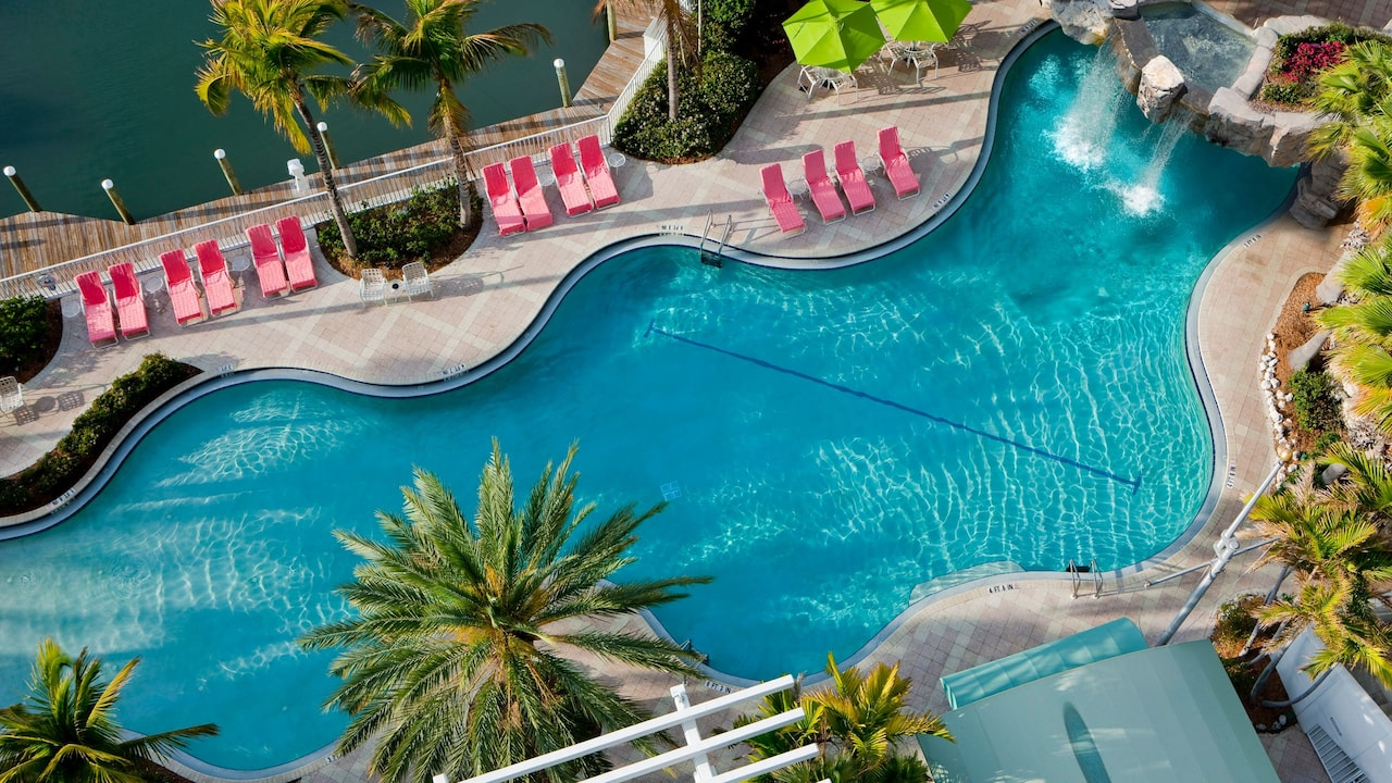 Hyatt Regency Sarasota Pool Aerial View