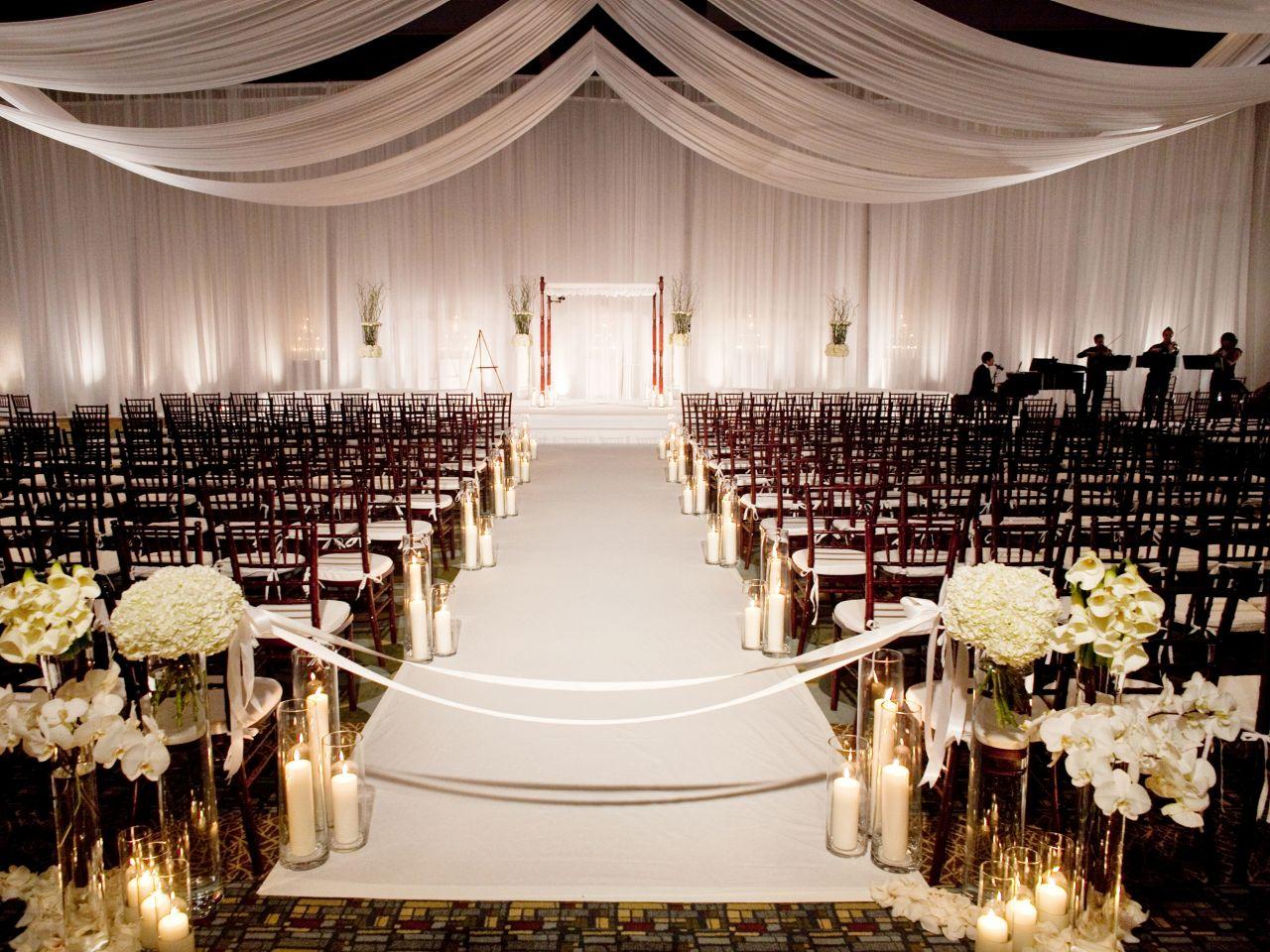Ballroom Set for Ceremony