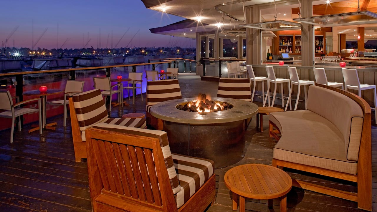 Red Marlin Terrace Firepit