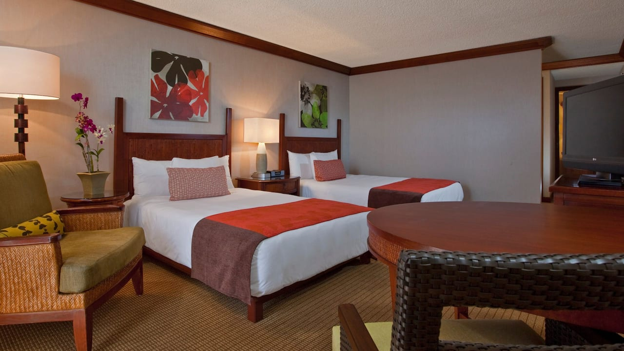Room with Queen and Double Bed Hyatt Regency Maui Resort and Spa