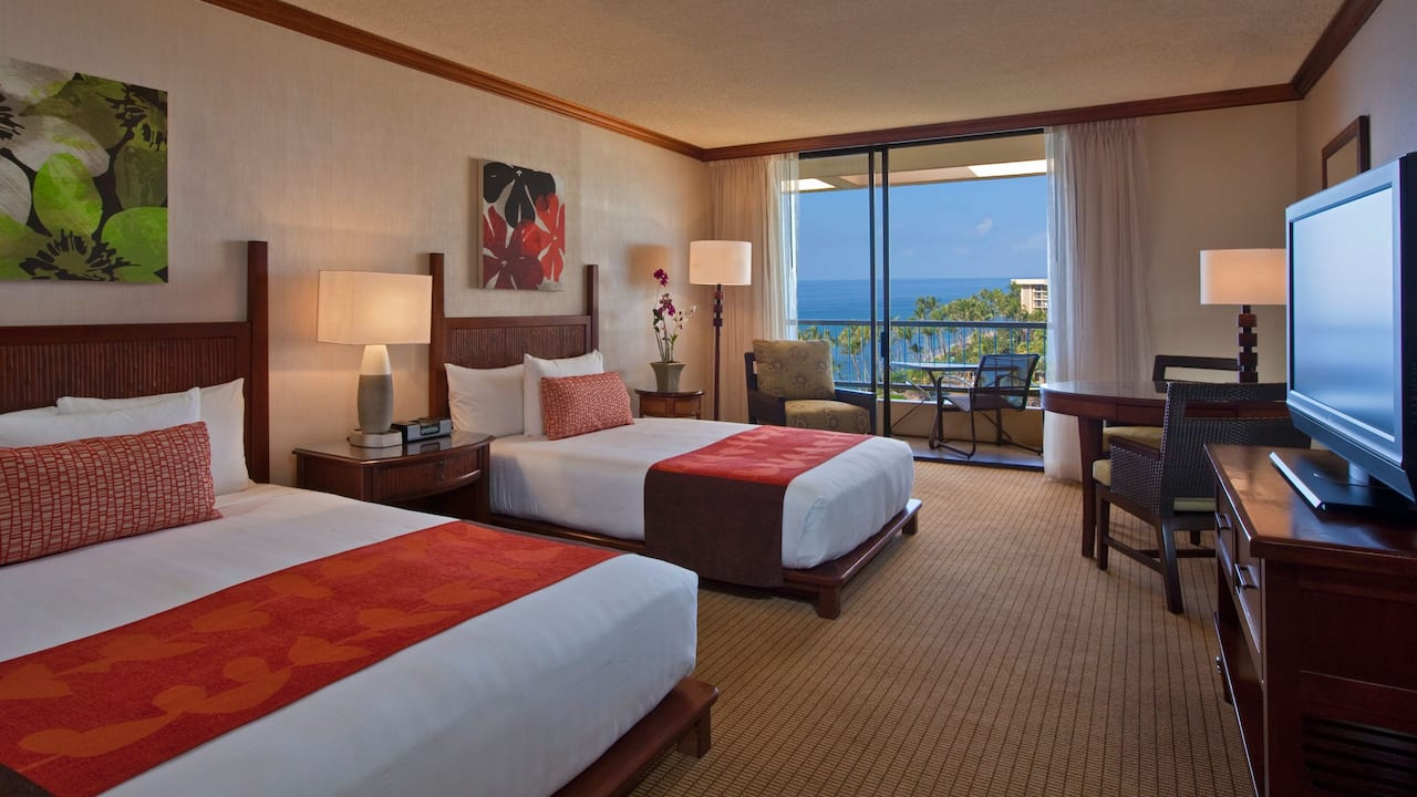 Ocean View Room with Queen and Double Bed Hyatt Regency Maui Resort and Spa