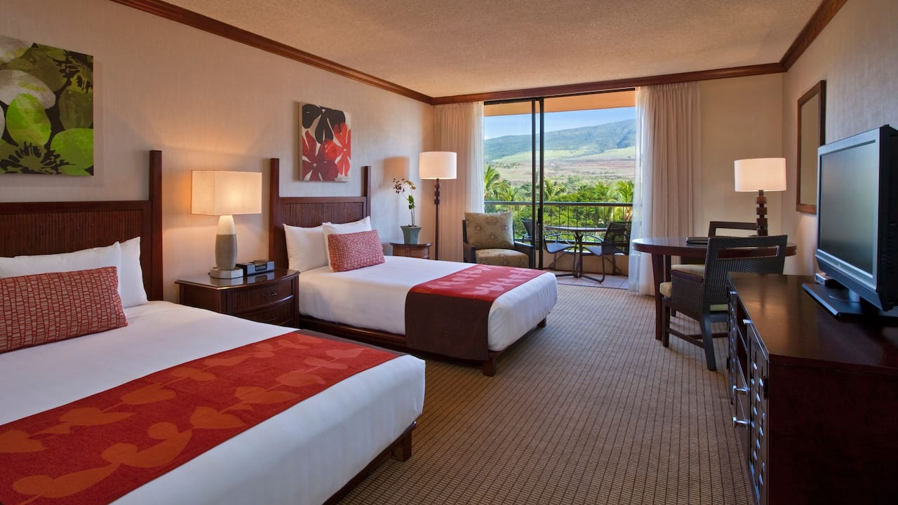 Mountain View Room with Queen and Double Bed Hyatt Regency Maui Resort and Spa