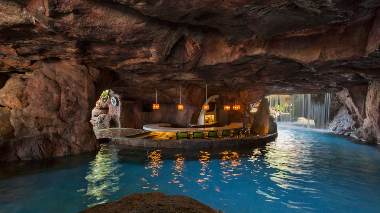 Image of a bar inside a cave in Maui at Hyatt Regency