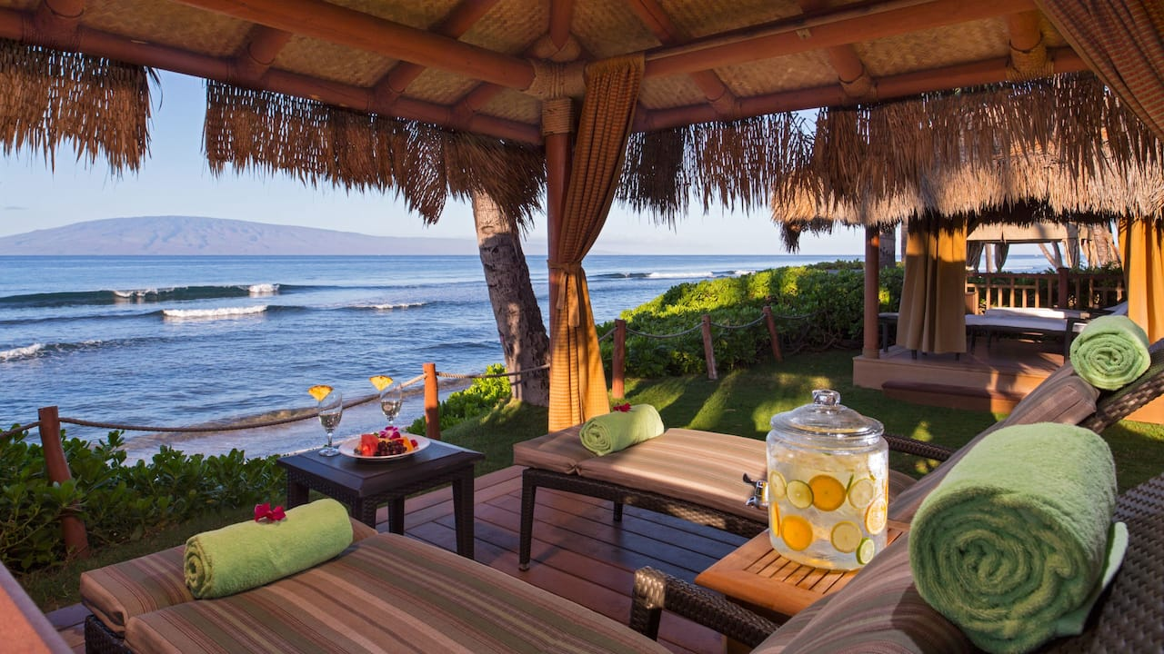 A cabana on the beach in Maui