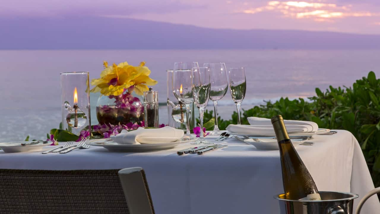 restaurant with ocean view Maui Hyatt Regency Maui Resort and Spa