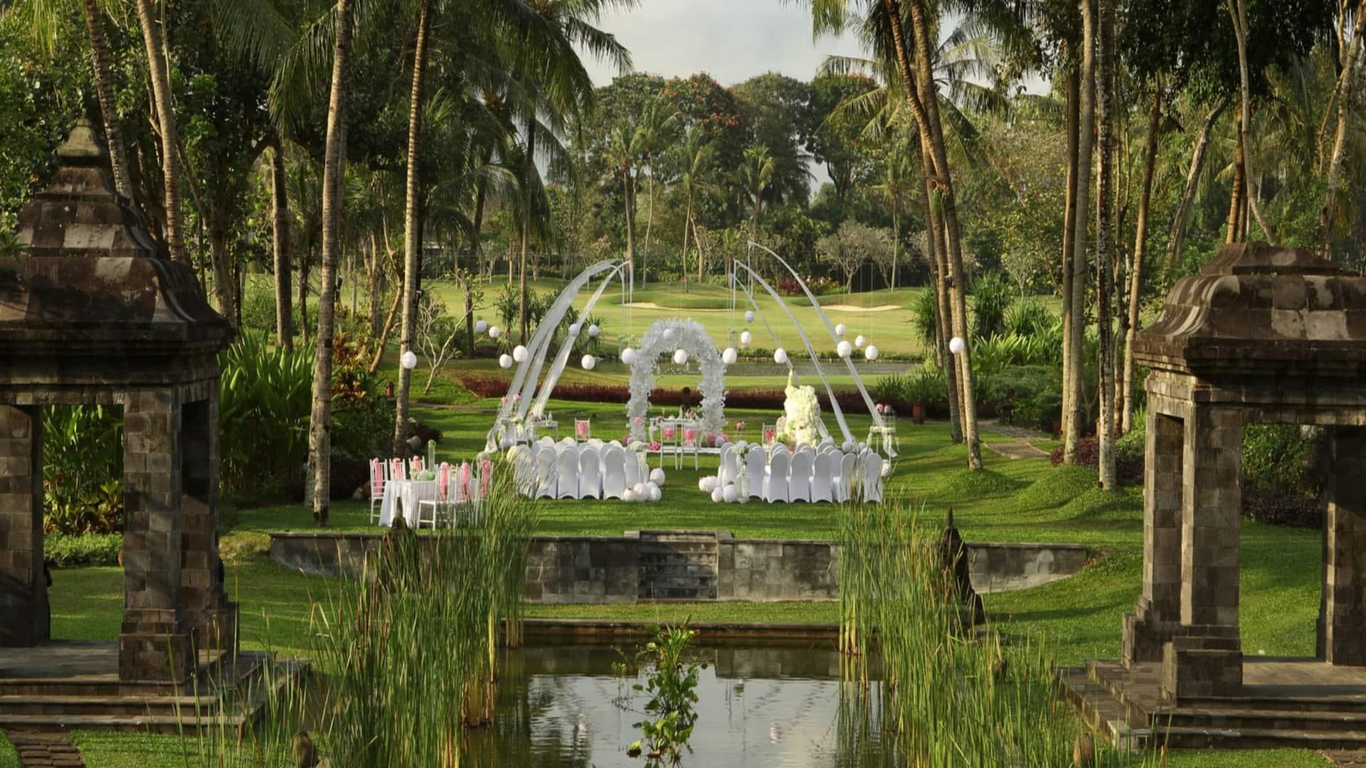 Hyatt Regency Yogyakarta (Indonesia) Hotel Wedding Venues Setup in Merapi Garden