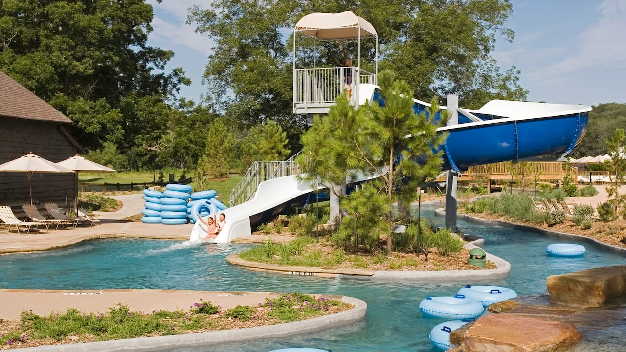 Waterslide Hyatt Regency Lost Pines Resort & Spa