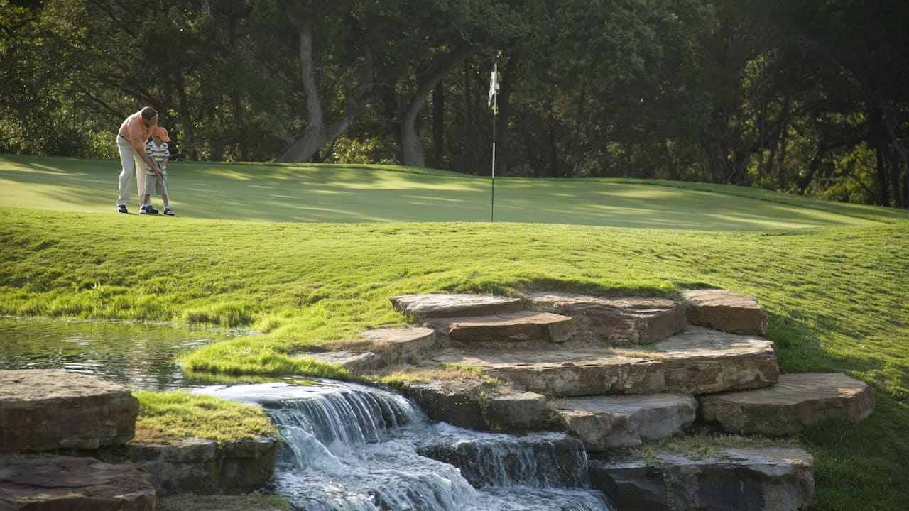 Golf Course Waterfall