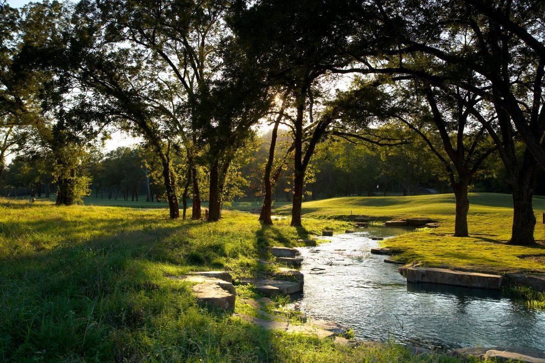 Golf Course Sunrise Stream