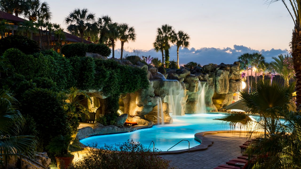 Hyatt Regency Grand Cypress Pool at night