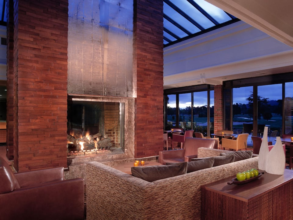 Hyatt Regency Monterey Hotel and Spa on Del Monte Golf Course Fireplace Lounge