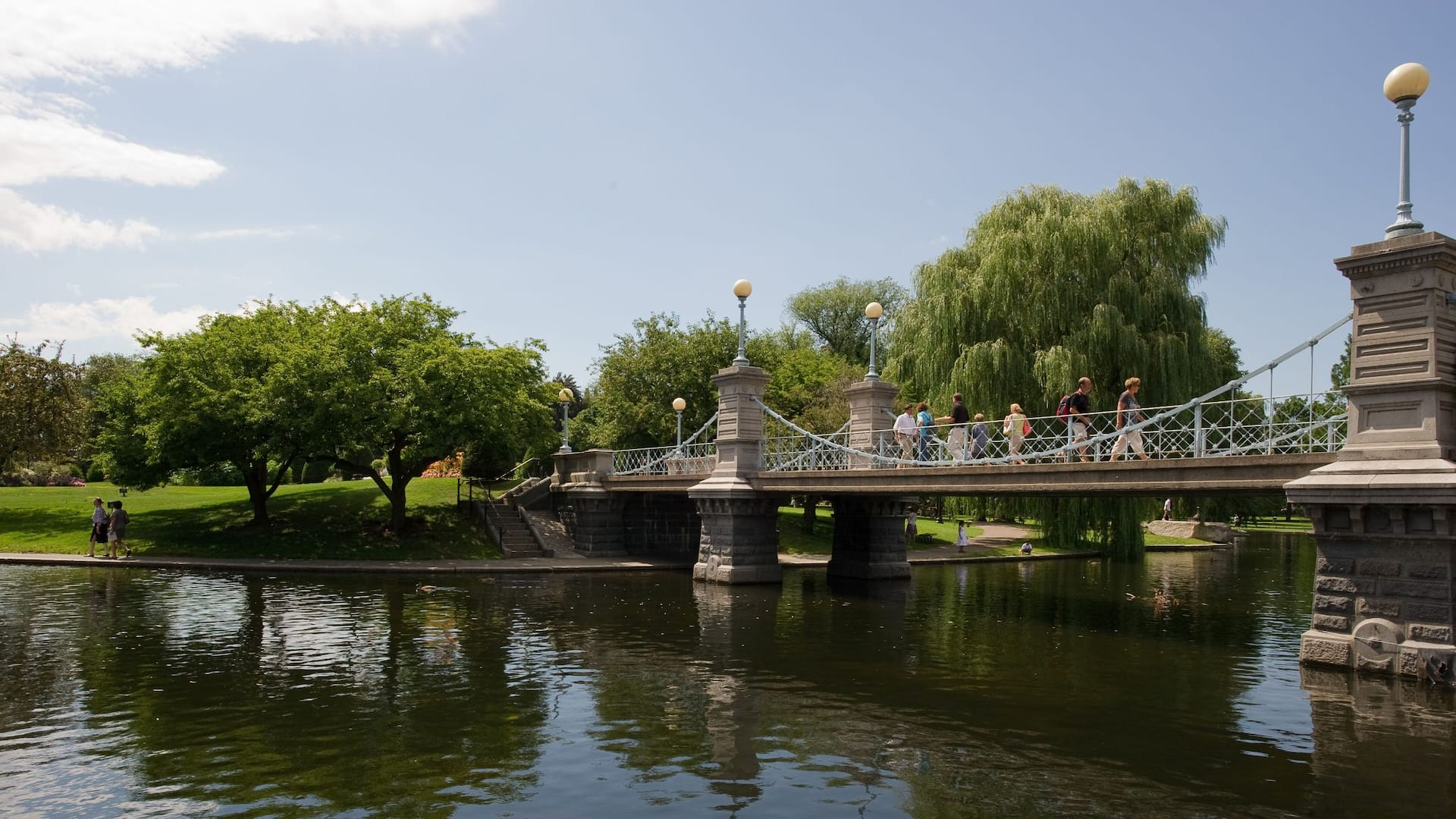 Park bridge over river