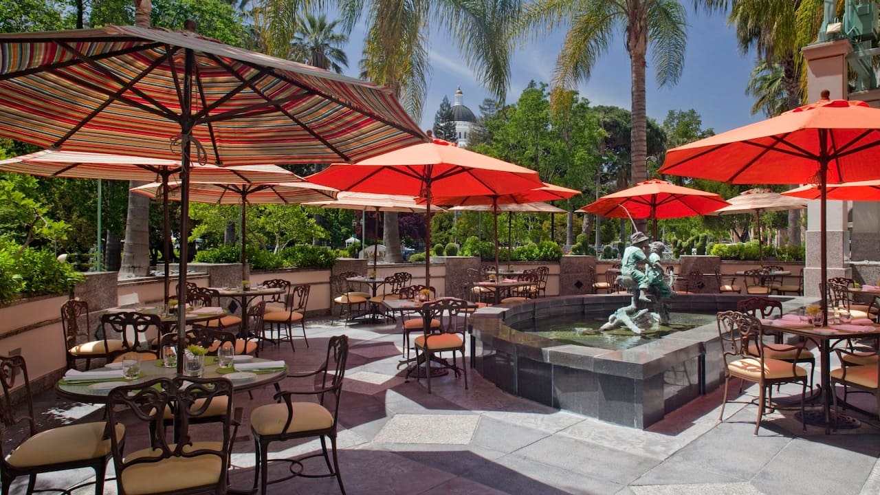 Outdoor Dining Hyatt Regency Sacramento