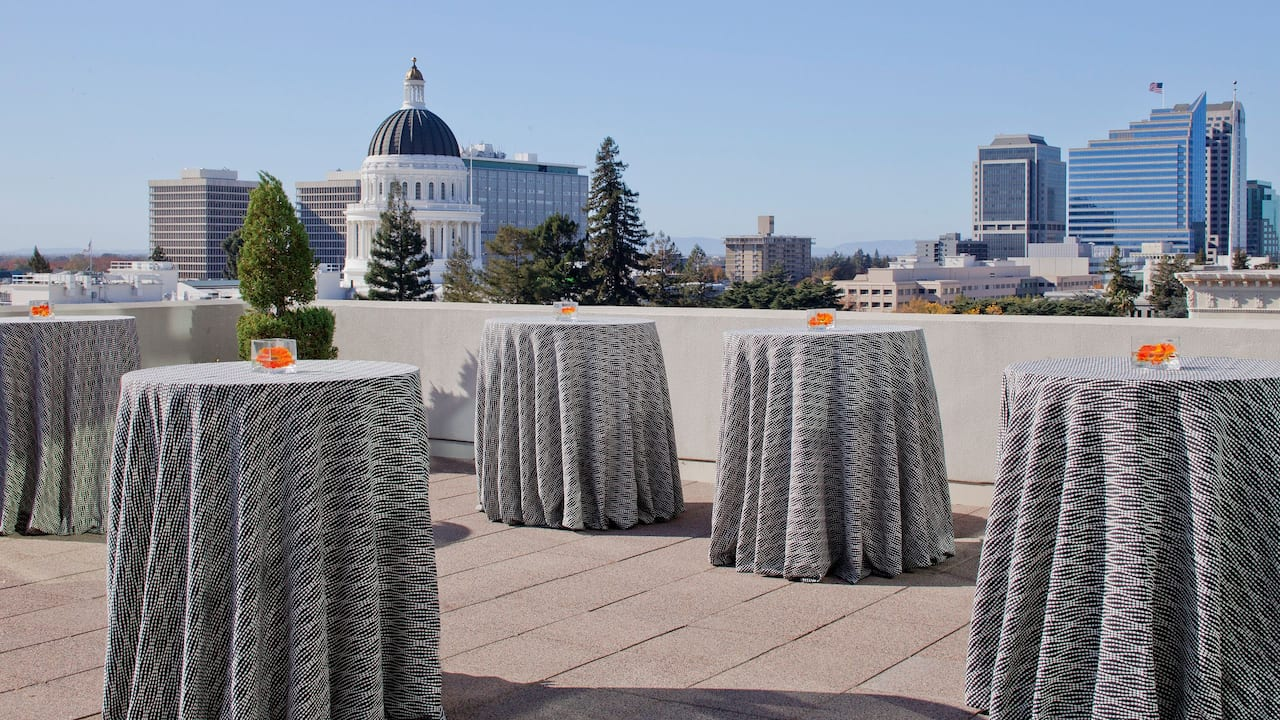 Rooftop events Starbucks Hyatt Regency Sacramento