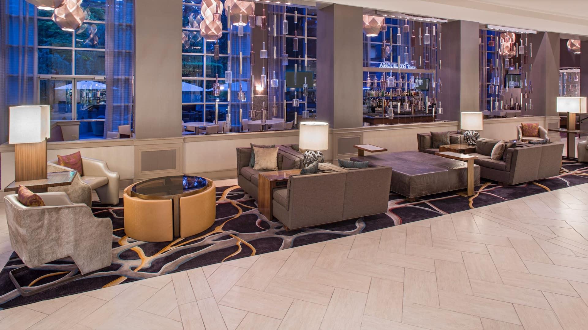 Lobby Seating Hyatt Regency Sacramento