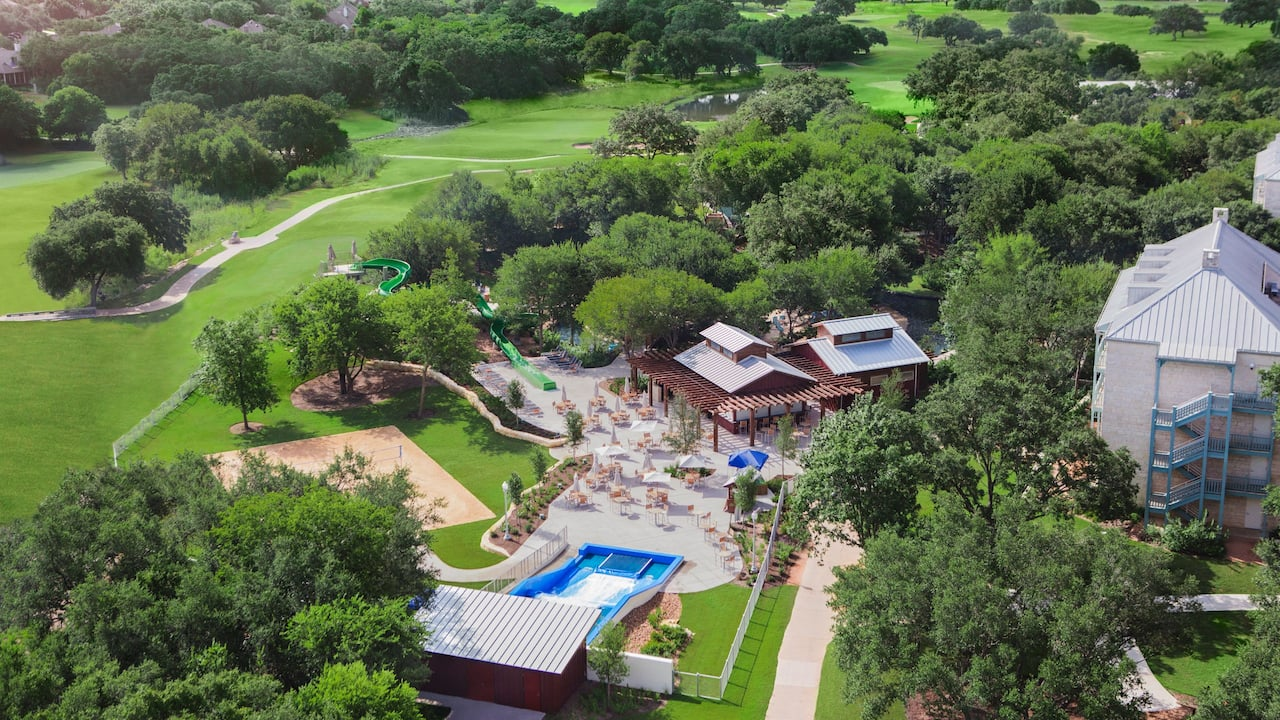 Aerial Edge Falls Hyatt Regency Hill Country Resort & Spa