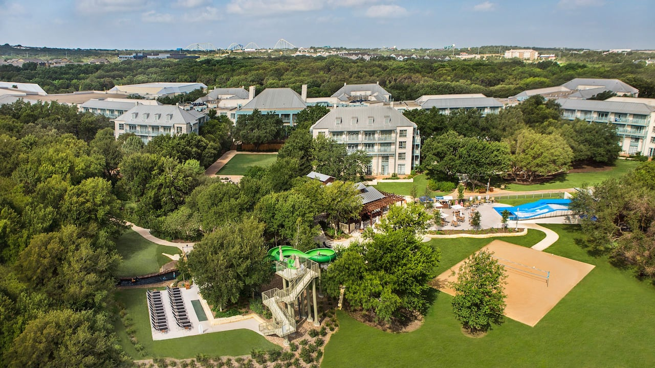 Hotel Exterior Aerial View Hyatt Regency Hill Country Resort & Spa