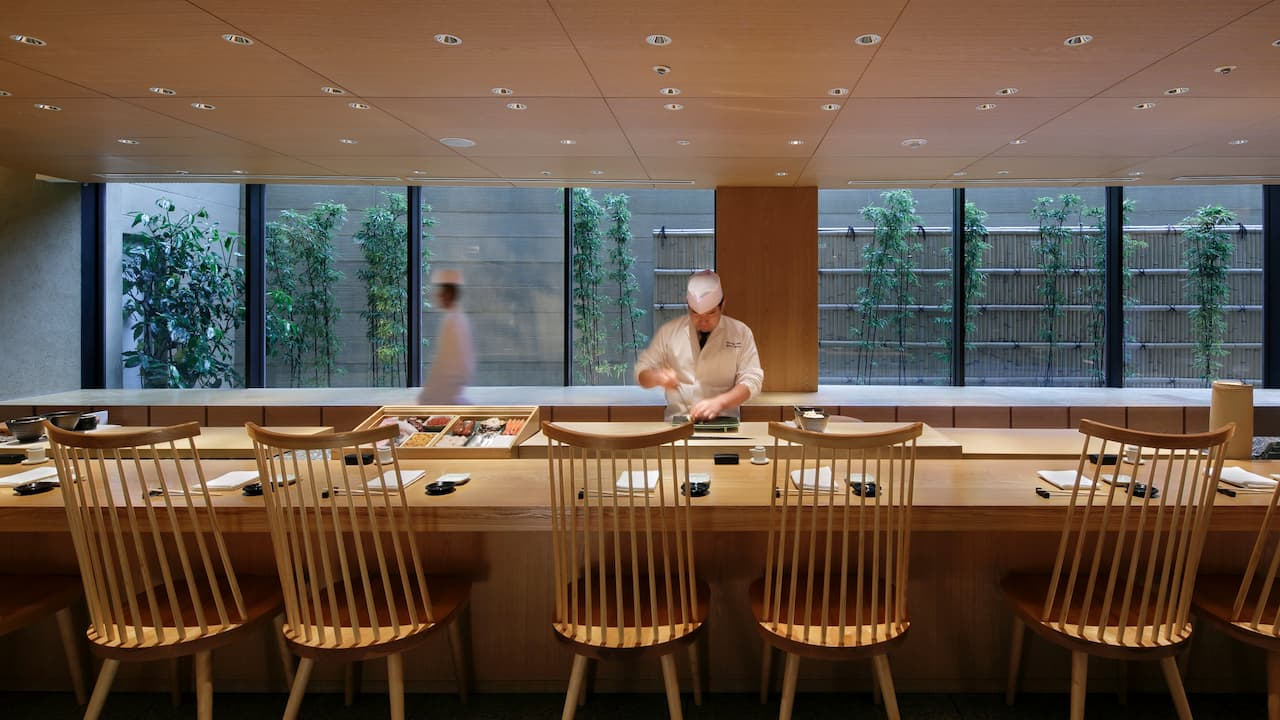 Hyatt Regency Hakone Resort & Spa | Dining room sushi