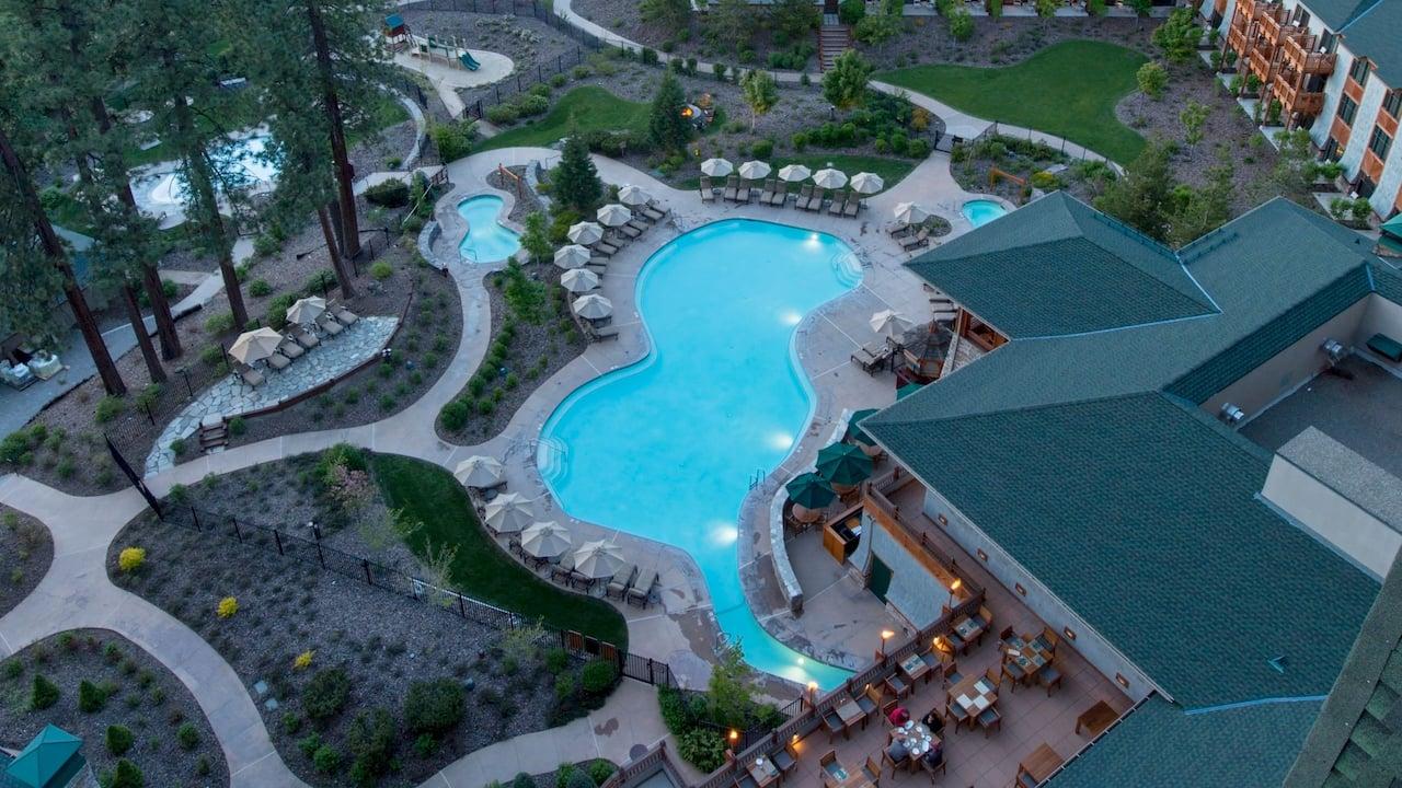 Aerial Pool View