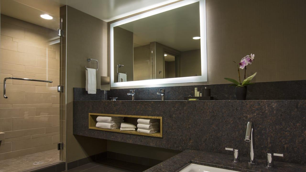 Junior King and Family Suite Bath Hyatt Regency Lake Tahoe Resort, Spa & Casino