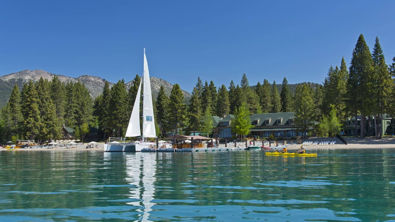 Private Beach Hyatt Regency Lake Tahoe Resort, Spa & Casino