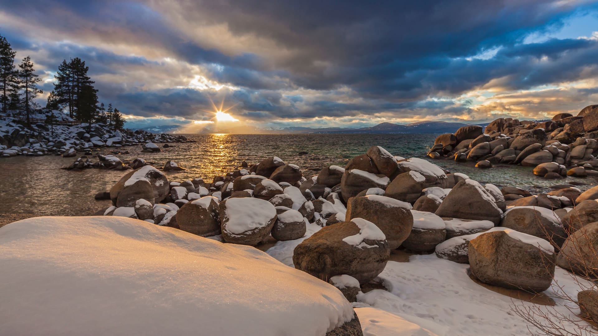 snowy tahoe
