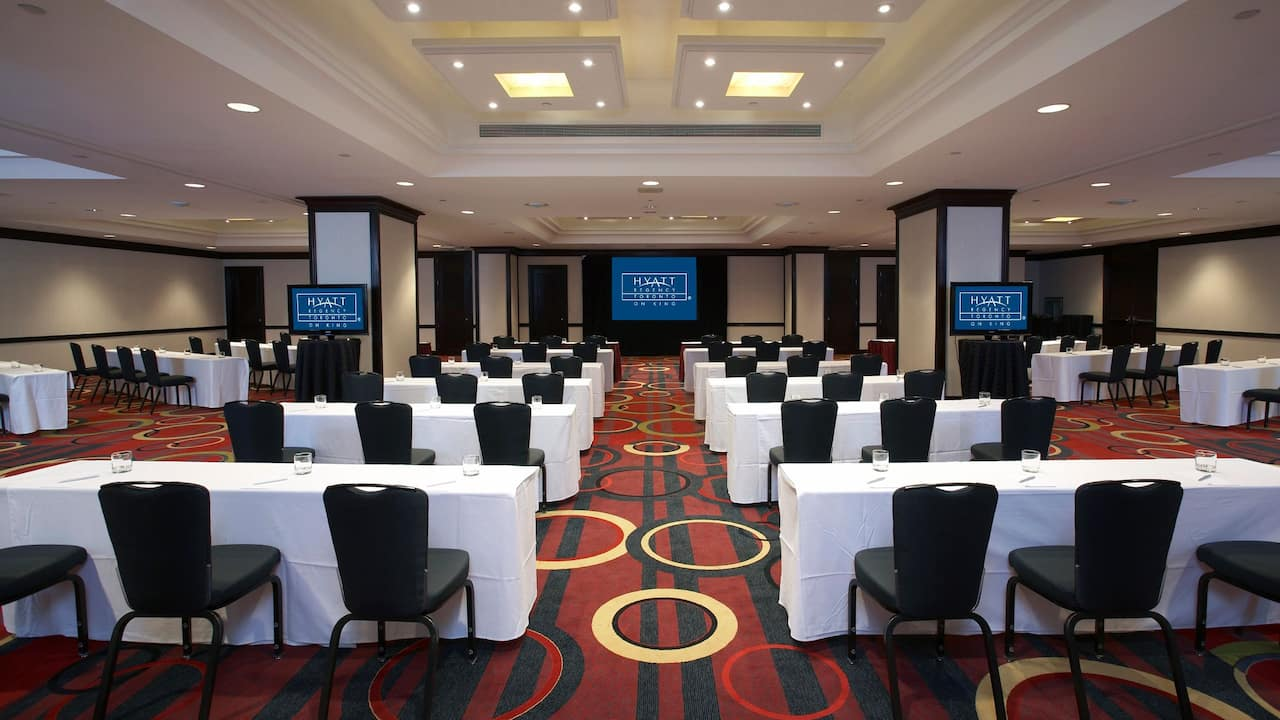 Hyatt Regency Toronto Ballroom with Classroom Setting