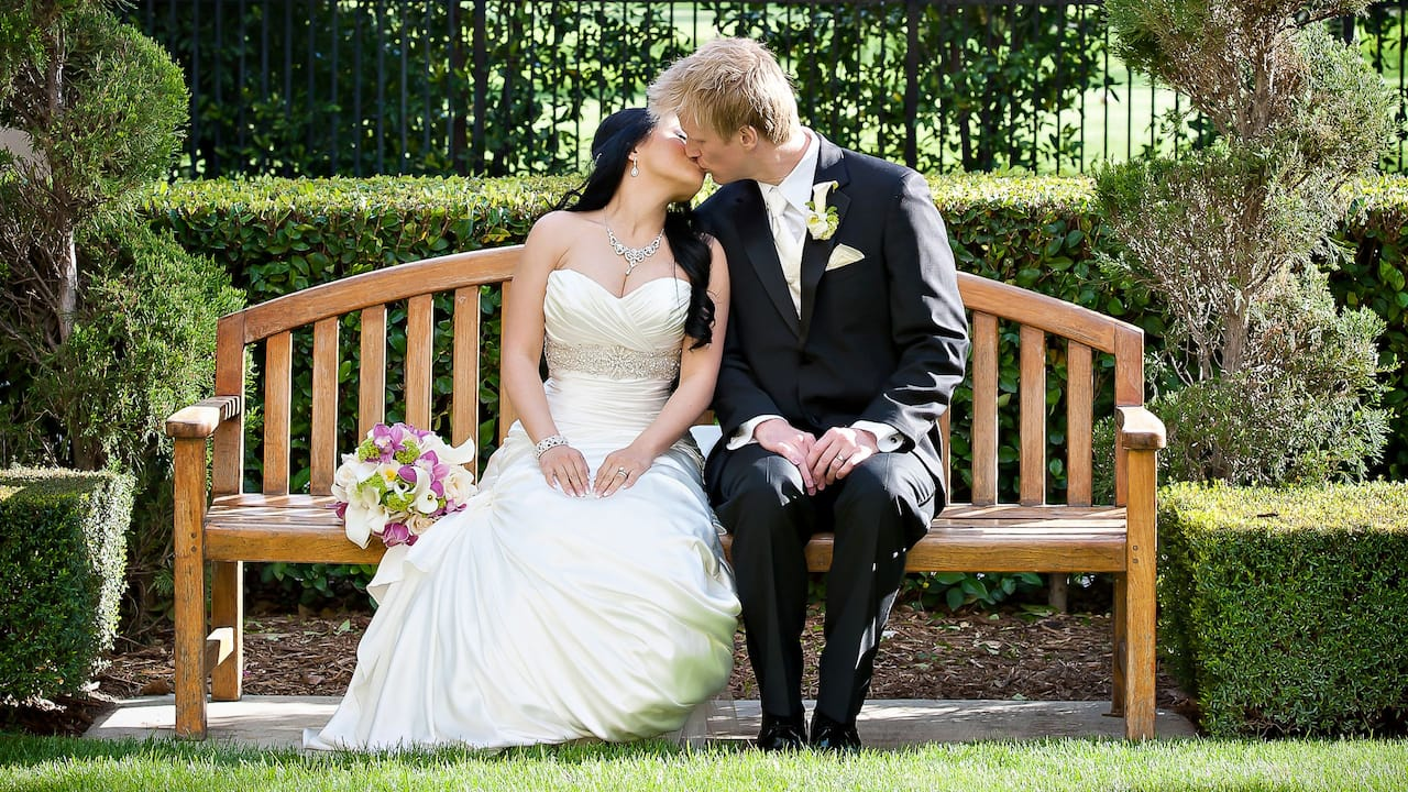 Bride and Groom Bench