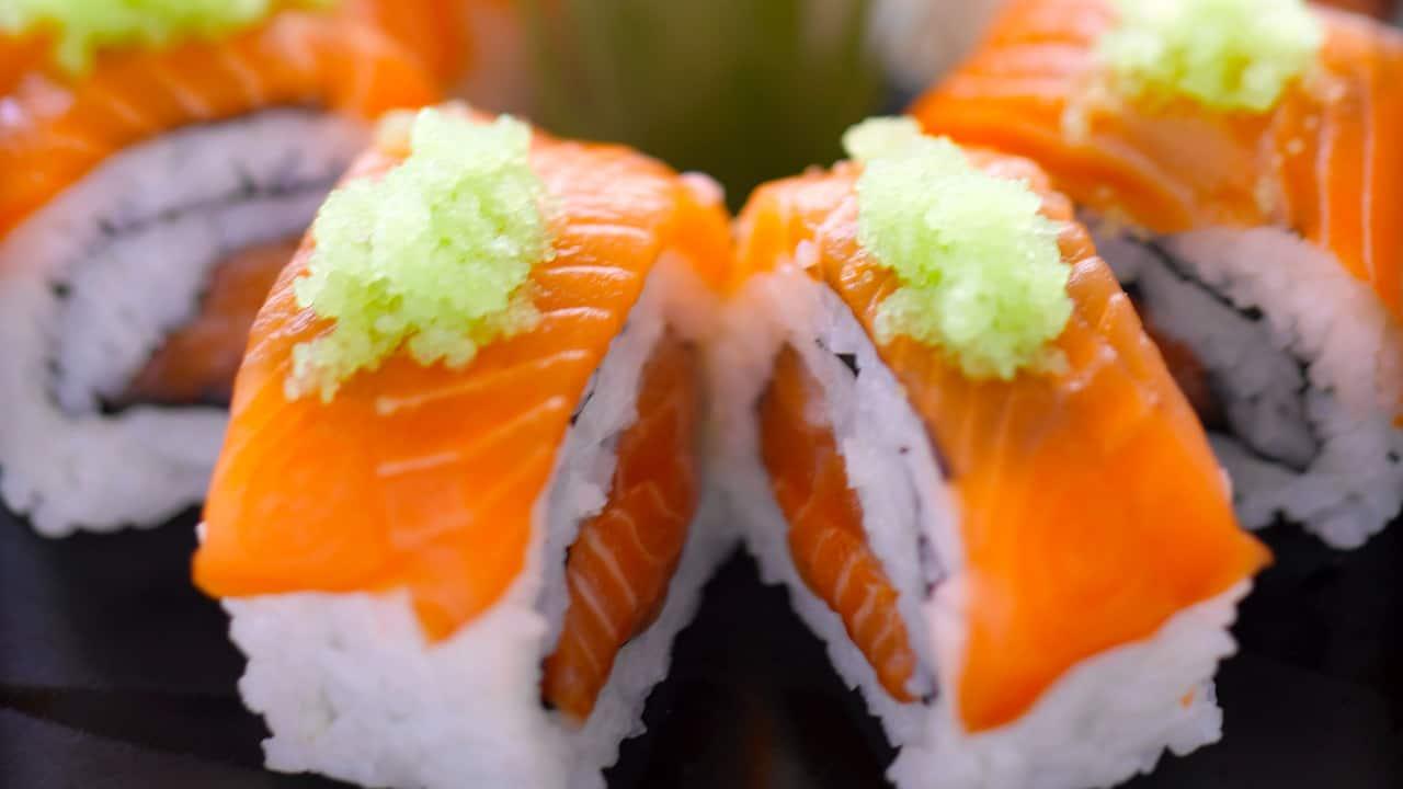 Sushi Rolls Nagisa Japanese Restaurant Hyatt Regency Kinabalu, Sabah