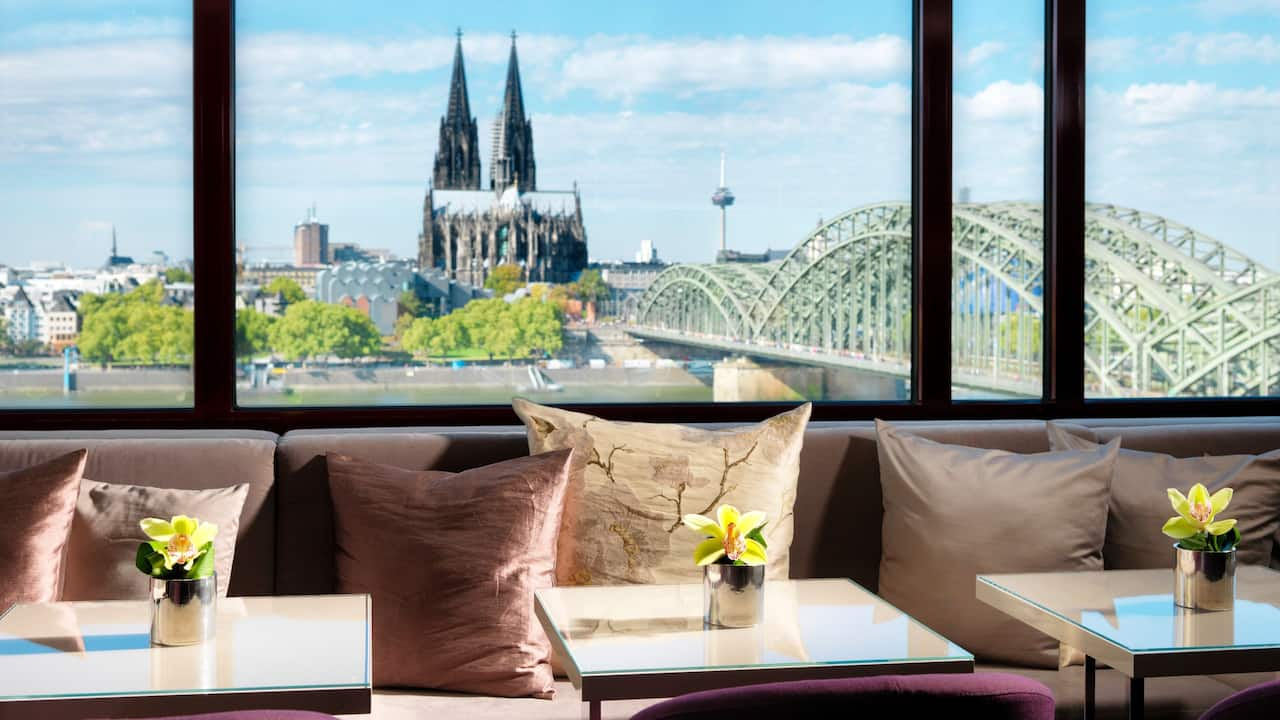Die Regency Cologne Lounge des Hyatt Regency Köln